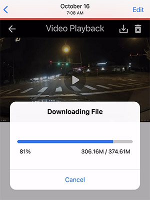 A129 Pro app downloading clip