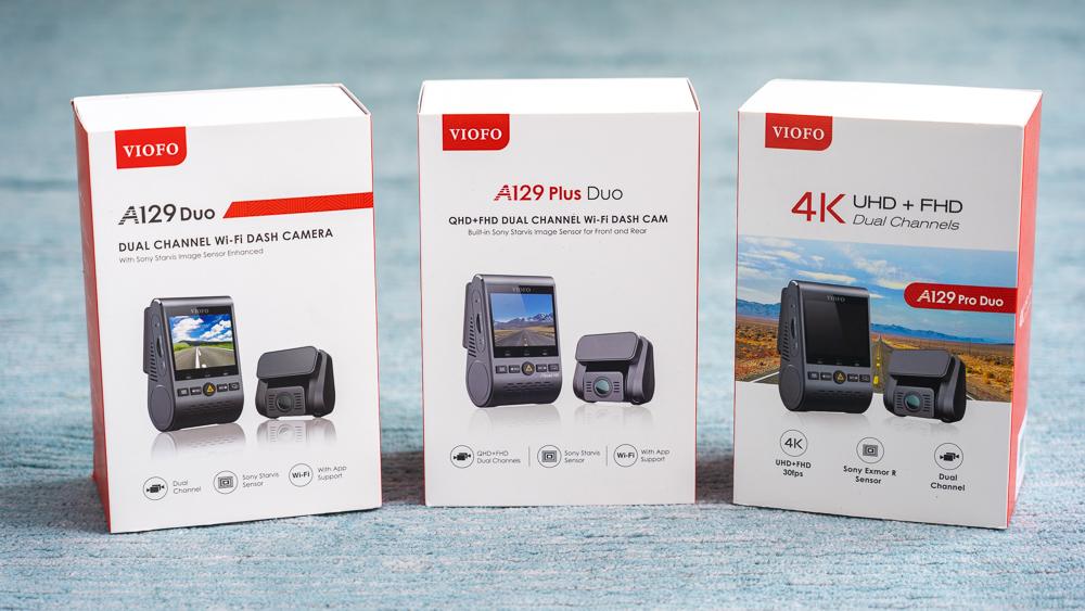Viofo A129 Duo, Viofo A129 Plus Duo, & Viofo A129 Pro Duo