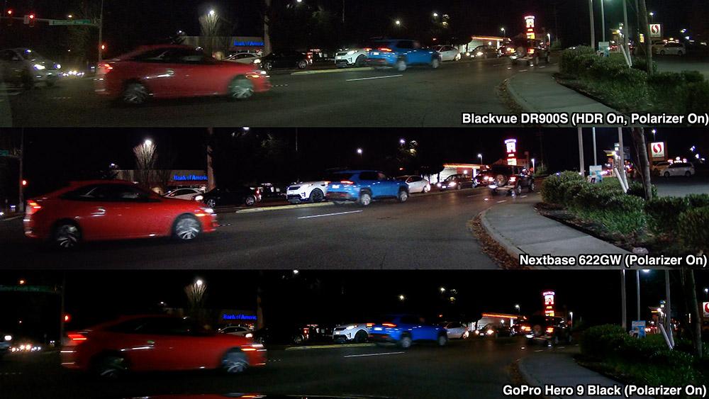 DR900S 622GW GoPro9 Night Comparison Polarizers On