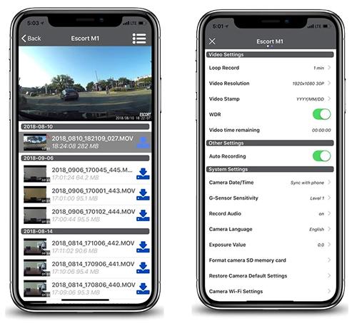 Escort M1 app