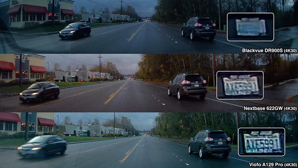 License plate comparison with dark SUV