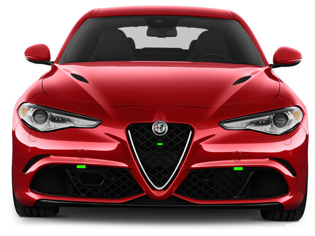 Alfa Romeo Giulia Front ALP Placement
