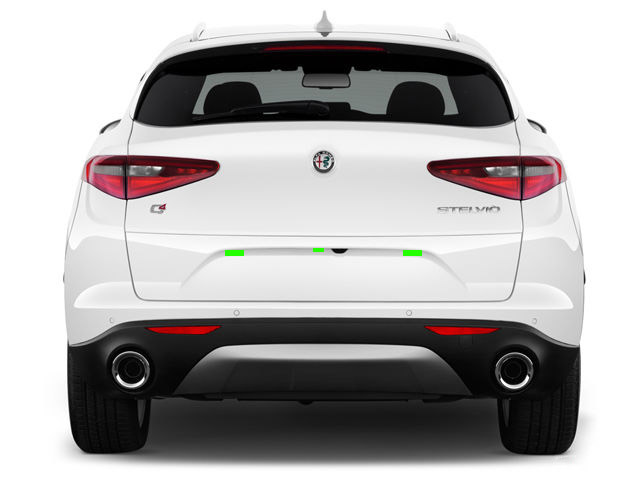 Alfa Romeo Stelvio Rear ALP Placement