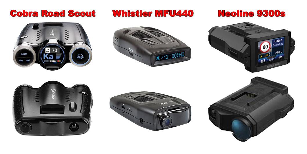 Cobra Road Scout, Whistler MFU440, Neoline 9300s